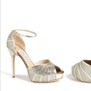 💕Jimmy Choo Peep Toe Platform Heels 👠